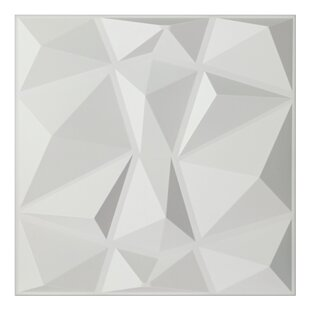 Schurda Diamond 19.7 inch  L x 19.7 inch  W 3D Embossed Wallpaper Panel