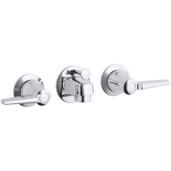 Apartment Kitchen Sink Backing Up: Kohler Triton Wall Mounted Double Handle Bathroom Faucet