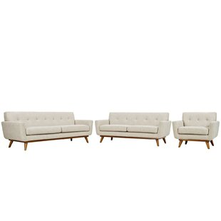 Langley Street Johnston 3 Piece Living Room Set