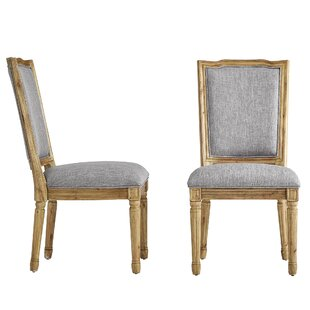 Ophelia & Co. Lachance Ornate Upholstered Dining Chair (Set of 2)