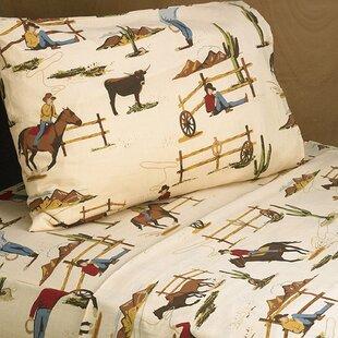 Sweet Jojo Designs Wild West Cowboy 200 Thread 100% Cotton Sheet Set