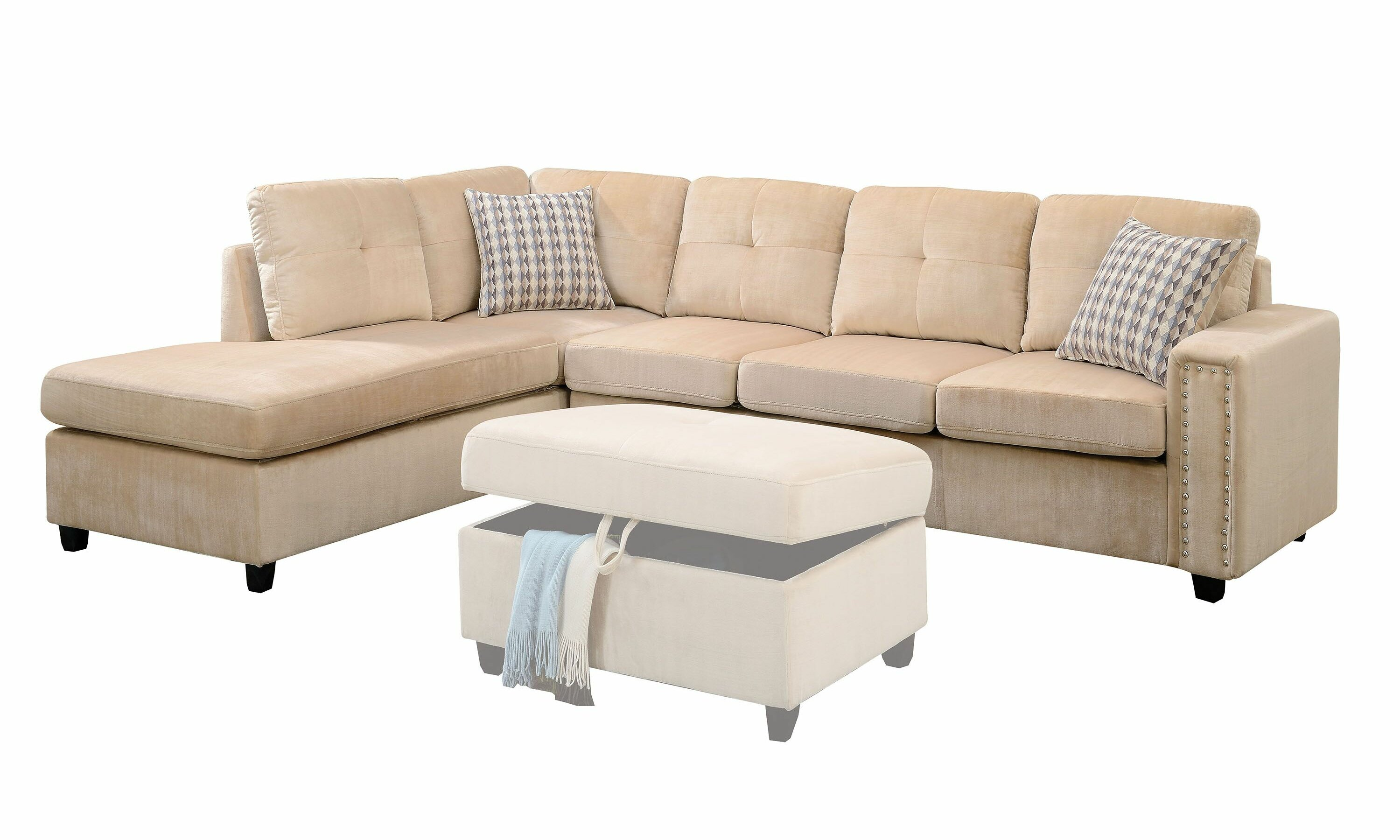 Workington Reversible Sectional with Ottoman