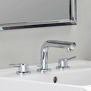 Inexpensive Concetto Mid-Arc Widespread Bathroom Faucet with Drain Assembly By Grohe