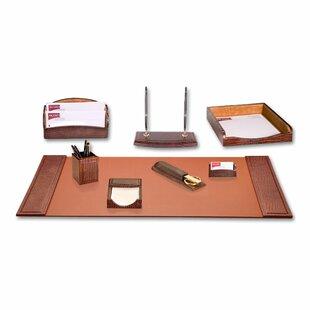 Crocodile Embossed 8 Piece Desk Set By Dacasso