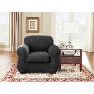 Stretch Pique Box Cushion Armchair Slipcover