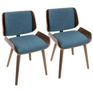 Arron Mid-Century Solid Wood Upholstered Dining Chair (Set of 2) by Corrigan Studio