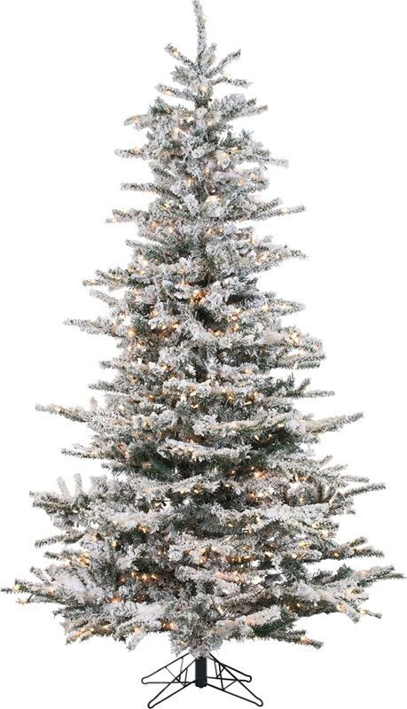 Marvelous Pre Lit 85u0027u0027 White Spruce Trees Artificial Christmas Tree With 750 Clear U0026