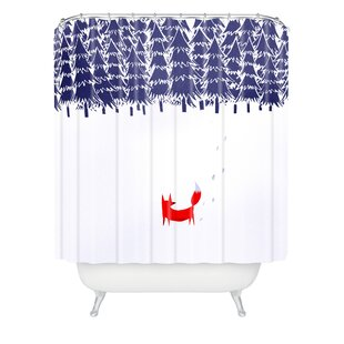 Alone In The Forest Single Shower Curtain