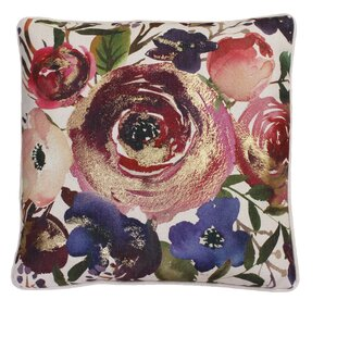 Parthenia Floral Linen Throw Pillow