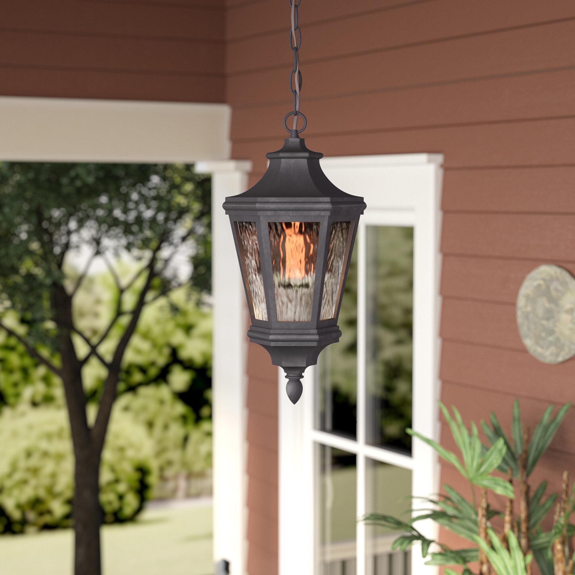 World Menagerie Deziree 1 Light Outdoor Hanging Lantern Wayfair