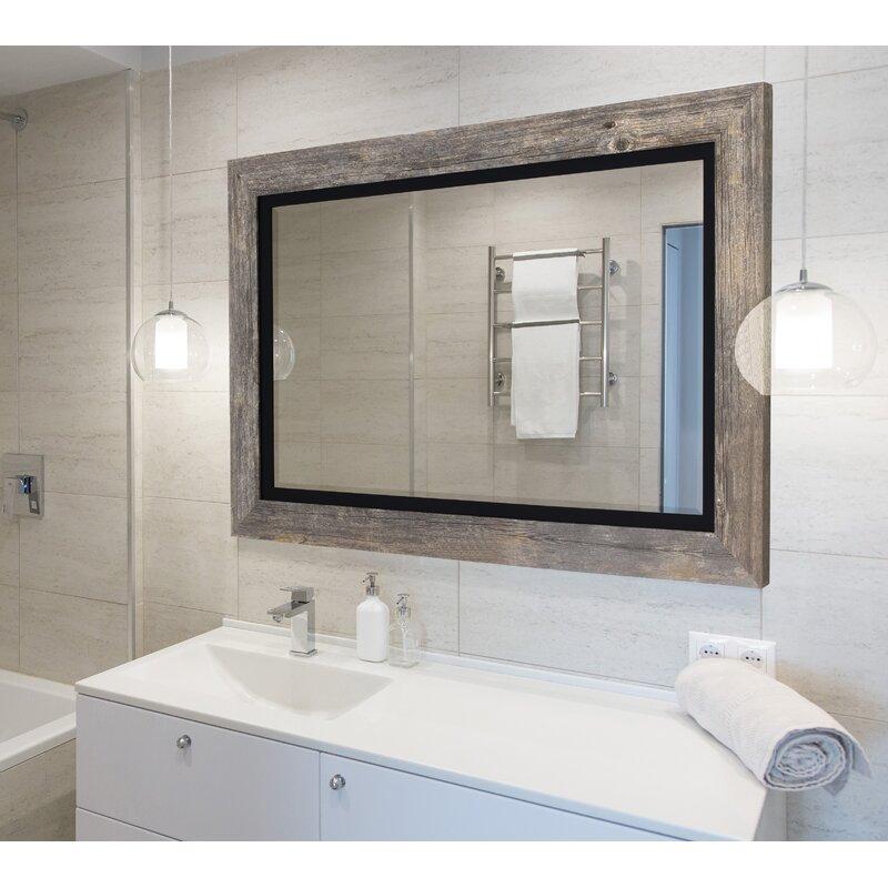 Longshore Tides Hilde Traditional Beveled Distressed Bathroom Vanity Mirror Reviews Wayfair