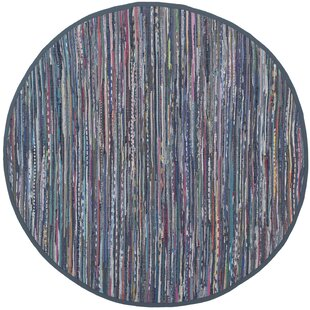 Eastport Rag Hand-Woven Cotton Purple/Blue Area Rug by Beachcrest Home