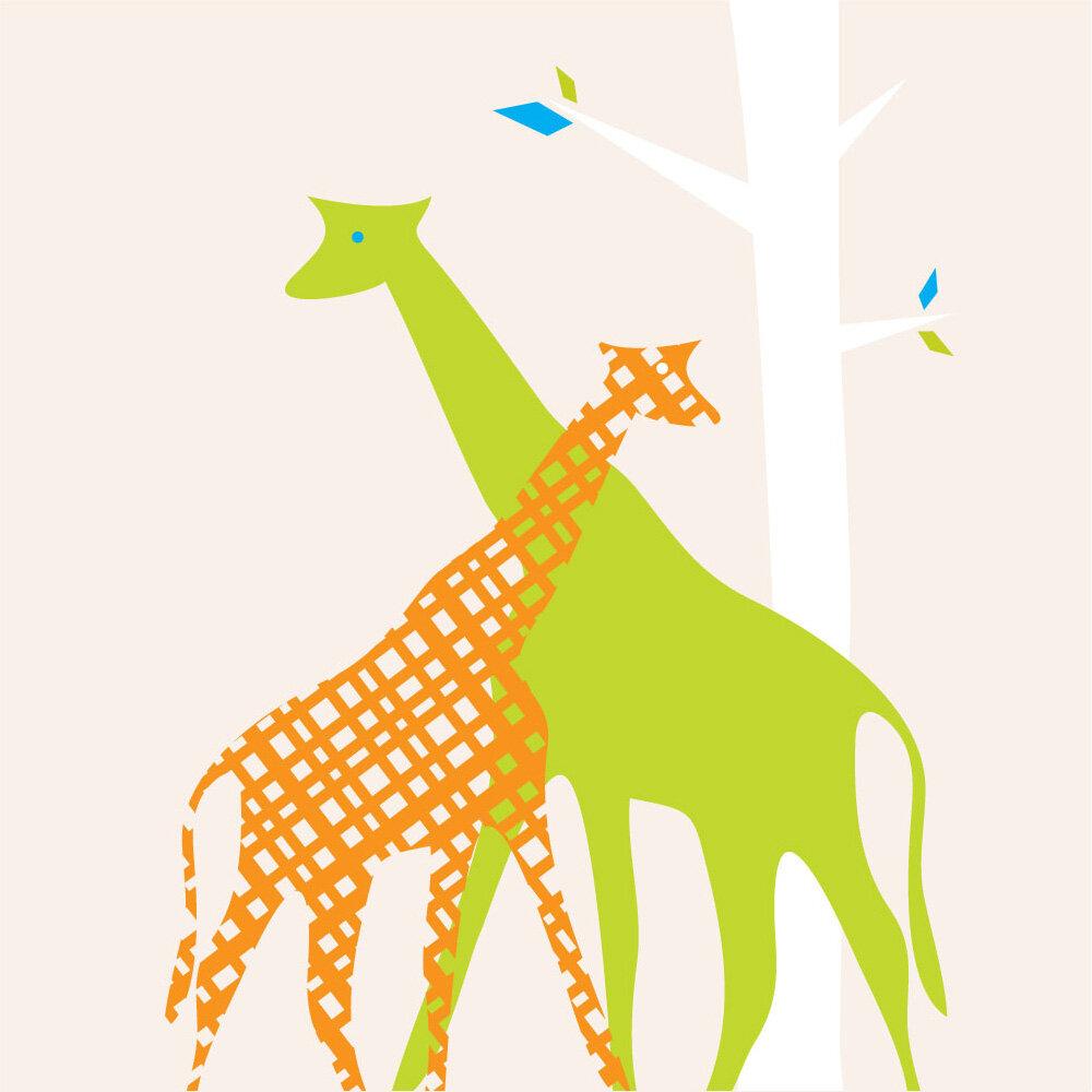 Trendy Peas Giraffe Wall Art   Wayfair