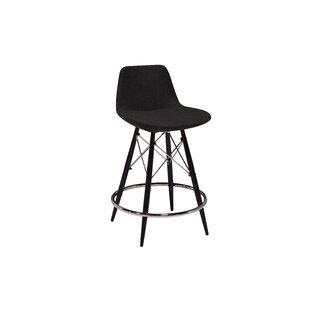 Nohlan Wool 29 Bar Stool by Wrought Studio