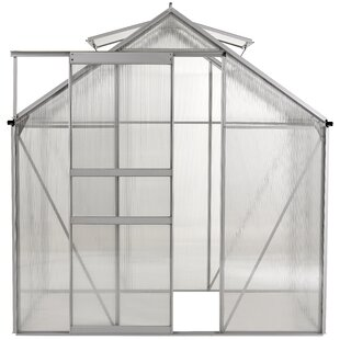 OGrow Aluminum Walk-in 6 Ft. W x 4 Ft. D Greenhouse with Double Roof Vent