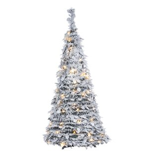 Collapsable//Folding Gold Tone Metal Table Top Ornament Display Christmas Tree