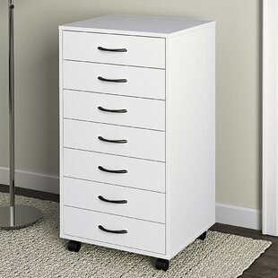 Branden Wood 7-Drawer Mobile Vertical Filing Cabinet