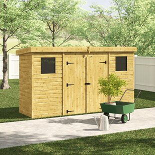 12 Ft. W X 4 Ft. D Shiplap Pent Wooden Shed By WFX Utility