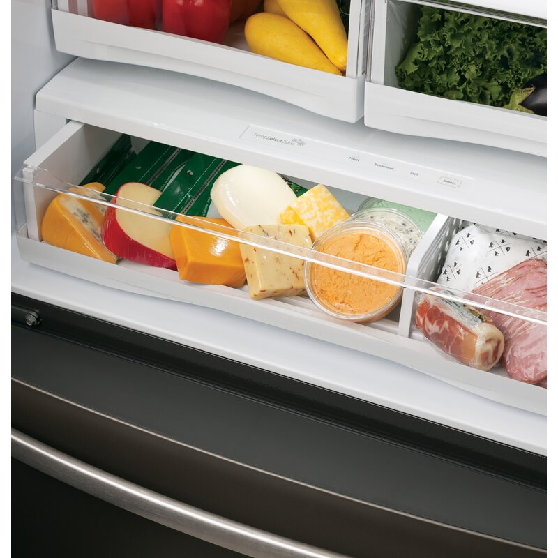 22 2 cu  ft  Energy Star® French Door Refrigerator with Hands-free Autofill