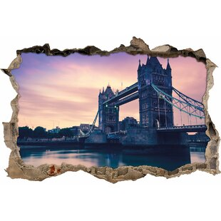 London Bridge At Dusk Wall Sticker By East Urban Home