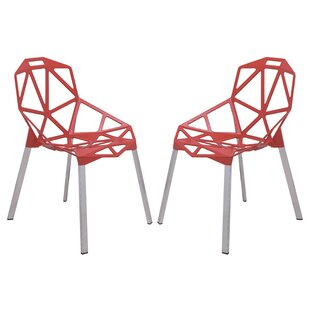 LeisureMod Dalton Modern Dining Chair (Set of 2)