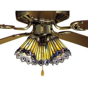 325 fitter glass shade wayfair tiffany 4 glass bowl ceiling fan fitter shade aloadofball Images