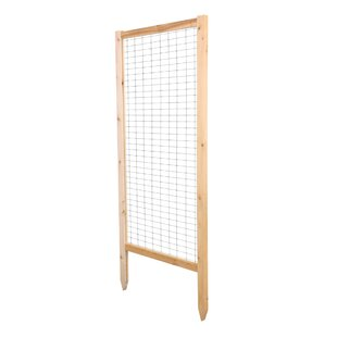Greenes Fence Critter Guard Garden Wood Lattice Panel Trellis Set (Set of 2)