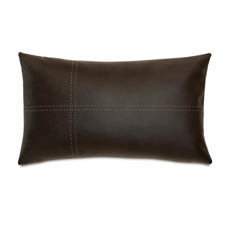 Eastern Accents Chalet Faux Leather Down Lumbar Pillow Perigold