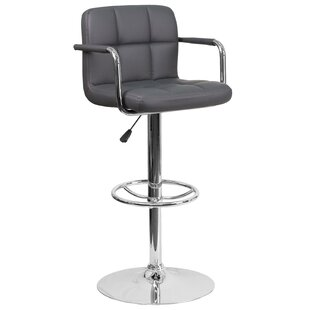 Noblitt Adjustable Height Swivel Bar Stool Orren Ellis