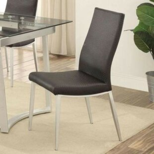 Reiber Genuine Leather Upholstered Dining Chair (Set of 2)