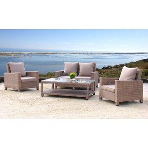 4-tlg. Lounge-Set Lanzarote mit Kissen von Grasekamp