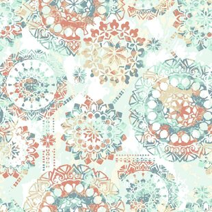 Destiney Bohemian 16 5 L X 20 5 W Floral And Botanical Peel And Stick Wallpaper Roll