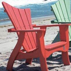 Wave Wood Adirondack Chair