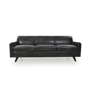 Corrigan Studio Ari Mid-Century Modern Leather Sofa