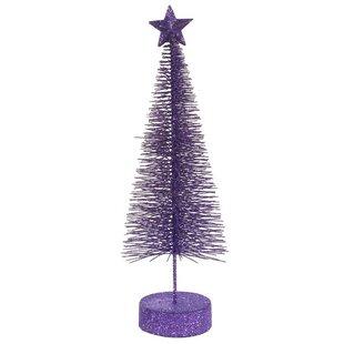 glitter sisal 25 purple artificial christmas tree set of 2 - Small Purple Christmas Tree