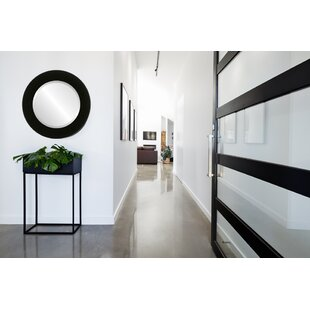 Meansville Framed Round Accent Mirror by Winston Porter