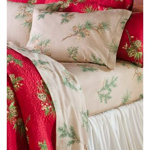 Peaceful Pine Cotton Flannel Sheet Set ByPlow & Hearth