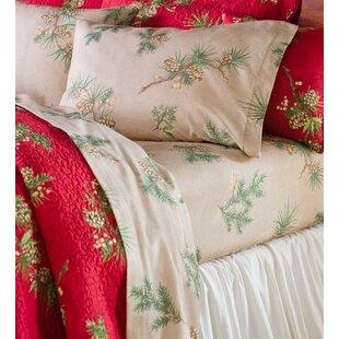 Peaceful Pine Cotton Flannel Sheet Set