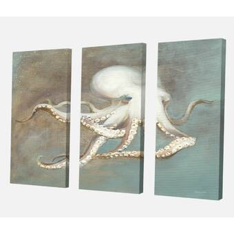 Dovecove Coral Mint Ii By Caroline Kelly Floater Frame Graphic Art Print On Canvas Wayfair