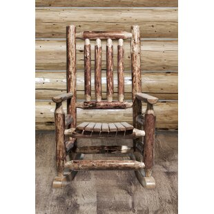 Tungsten Log Child's Rocking Chair By Loon Peak