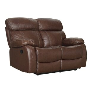 Heyman Leather Power Reclining Loveseat b..