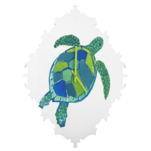 Sea Turtle By Laura Trevey Clock by East Urban Home