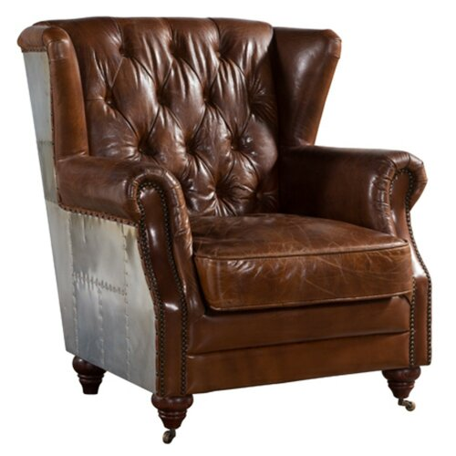 Randle Wingback Chair Williston Forge Upholstery Colour: Bro