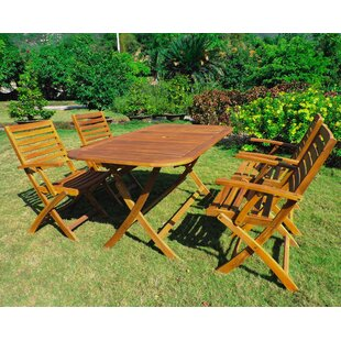 Beachcrest Home Netherton 5 Piece Dining Set
