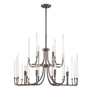 Williston Forge Shellson 12-Light Candle Style Chandelier