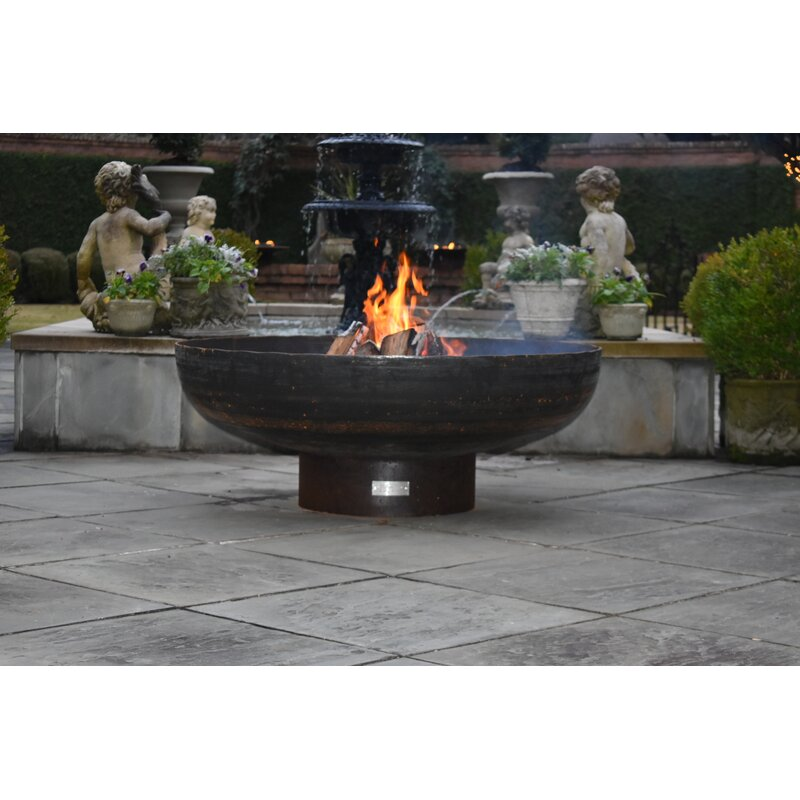 Seasons Fire Pits Round Steel Wood Burning Fire Pit