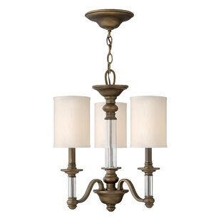 Canora Grey Harrison 3-Light Shaded Chandelier