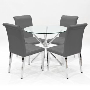 Ycatapom Dining Set With 4 Chairs By Wade Logan