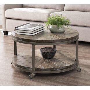 Round Coffee Table On Wheels Wayfair