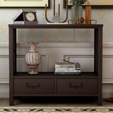 Desimone 36 Solid Wood Console Table by Longshore Tides